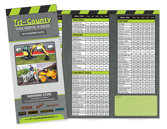 tricounty tool rental brochure